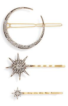 Serefina Celestial 3-Pack Crystal Hair Pin Set, Size One Size - Metallic