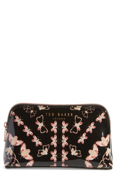 Ted Baker London Mellow Queen Bee Cosmetics Case, Size One Size - Black