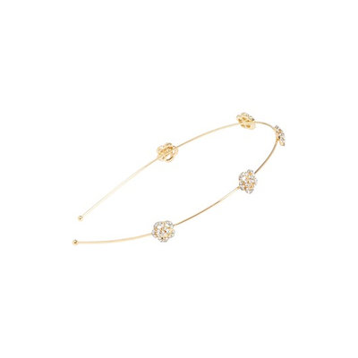 Tasha Mini Rose Skinny Headband, Size One Size - Metallic