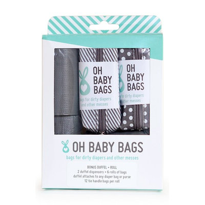 Infant Oh Baby! Portable Clip-On Dispenser & Bag Set, Size One Size - Grey