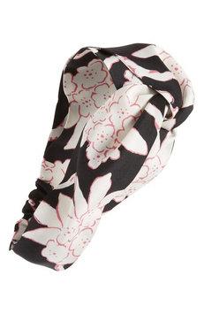 Valentino Garavani Rhododenron Silk Headband, Size One Size - Black