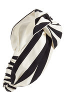 Cara Oversize Stripe Head Wrap, Size One Size - Black