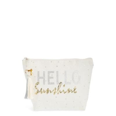 Shiraleah Hello Sunshine Sequin Cosmetic Pouch, Size One Size - Multi