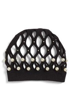 Gucci Imitation Pearl Hair Net, Size Medium - Black
