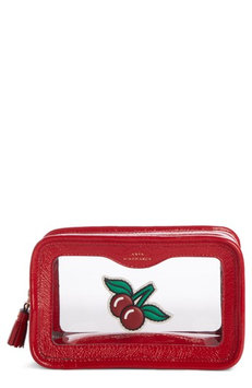 Anya Hindmarch Rainy Day Cosmetic Case, Size One Size - Red
