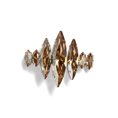 L. Erickson Spiked Crystal Barrette, Size One Size - Metallic