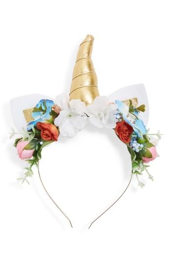 Cara Unicorn Headband, Size One Size - White