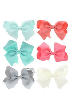 Capelli New York 8-Piece Bow Clip Set, Size One Size - Pink