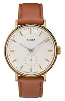Timex Fairfield Sub Second Cream Gold Brown