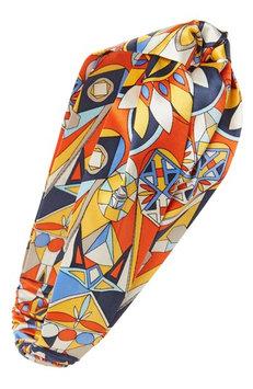 Tory Burch Psychedelic Geo Silk Headband, Size One Size - Orange