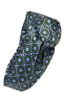 Tory Burch Octagon Silk Headband, Size One Size - Blue