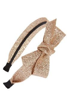 Cara Glitter Bow Headband, Size One Size - Beige