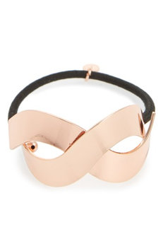 Cara Metal Crisscross Cuff Ponytail Holder, Size One Size - Pink