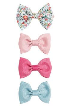 Milledeux 4-Piece Bows Hair Clip Set, Size One Size - Pink