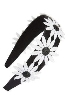 Tasha Big Daisy Headband, Size One Size - Black