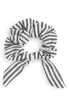 New Friends Colony Bunny Seersucker Scrunchie, Size One Size - Black