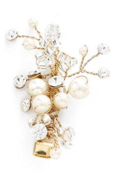 Wedding Belles New York Glass Pearl & Crystal Hair Clip - Pink