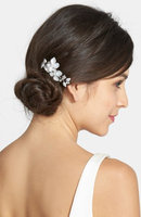 Wedding Belles New York Crystal Floral Hair Comb - Metallic
