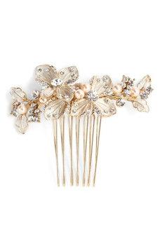 Wedding Belles New York 'Brittany' Hair Comb - Metallic