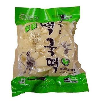 2 Packs, Sekero Rice Cake,Korean Rice Cake, Rice Ovaletts, 24oz/pk x 2