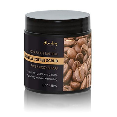 Glamology Pure Arabica Coffee Scrub Best for Stretch Mark, Acne & Anti Cellulite Treatment, Helps in Reducing & Varicose Veins with Organic Coffee.