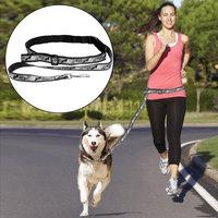 Boss Pet Products Boss Pet Leash Belt Hands-Free Dog Run Walk Jog Push Stroller Gray All-Weather (Fits up to 33