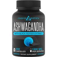 Ashwagandha - 200 capsules - 1500MG Serving Per Day - Stress Relief - Anti Anxiety - Max Strength - Mood Enhancer - Organic Ashwagandha Capsules - All Natural - Gluten Free - Non-Gmo