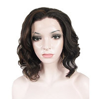 Ebingoo Synthetic Lace Front Wigs Bob Natural Hairline For Women Short Hairstyles Brown Mixed Black Color N20-4+30
