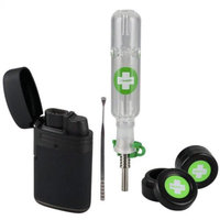 Just Solutions The Happy Dab Kit - All in One Dab Kit - Smell Proof, break proof Includes Nectar Collector, 2 wax containers, Dab Tool and Torch lighter. Amazing 710, 420 gift, Starter Kit