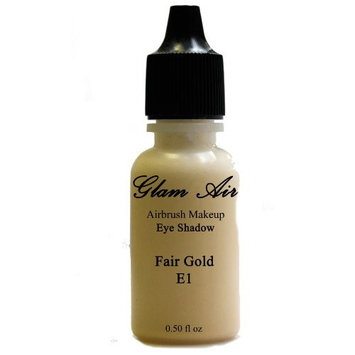 Large Bottle Glam Air Airbrush E1 Fair Gold Eye Shadow Water-based Makeup 0.50oz