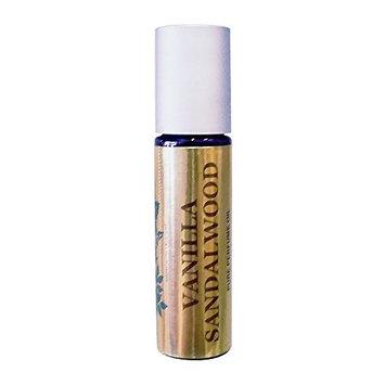 Vanilla Sandalwood Pure Perfume Oil by Perfume Studio- Concentrated Premium Parfum Blend; 10ml Purple Glass Roller Bottle.