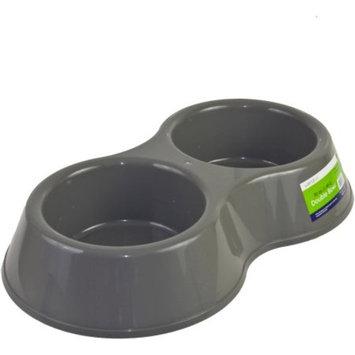World Pet Double Bowl Dog Bowls, 50 Oz, Tan