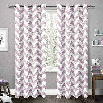 Mars Lilac Woven Blackout Thermal Grommet Top Window Curtain