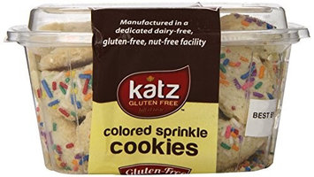 Katz Gluten Free Colored Sprinkle Cookies, 6 Ounce