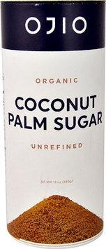 Ojio Organic Coconut Palm Sugar Unrefined - 12 oz pack of 4