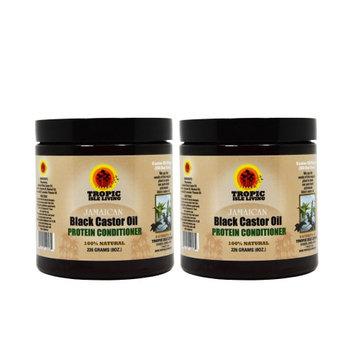 Tropic Isle Living Jamaican Black Castor Oil PROTEIN Conditioner 8oz 'Pack 2'