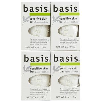 Basis Sensitive Skin Cleansing Bar - 4 oz - 4 pk