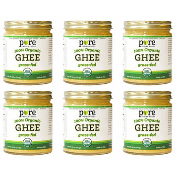 Grassfed Organic Ghee 7.8 Oz - Pure Indian Foods Brand (6-Pack)