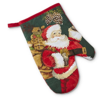 Trim A Home® Christmas Oven Mitt - Santa u0026 Presents