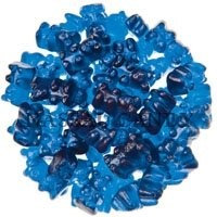 Bayside Candy Royal Blue Raspberry Gummy Bears, 10LBS