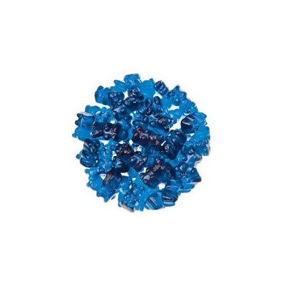 Bayside Candy Royal Blue Raspberry Gummy Bears, 10LBS