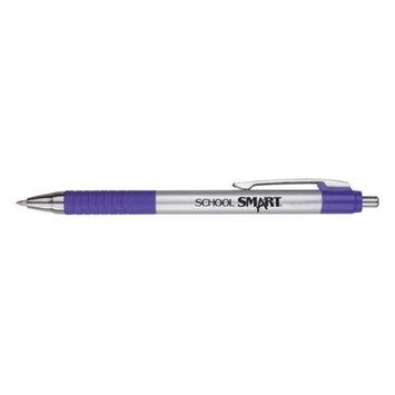 School Smart 1570500 0.7mm Pen Grip Hybrid Ink Purple Metal - Pack of 12
