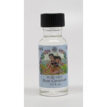 Rose Geranium - Sun's Eye 'Pure' Oils - Half Ounce Bottle