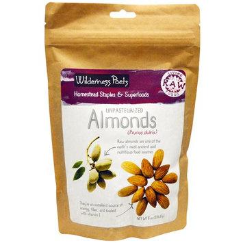 Wilderness Poets, Unpasteurized Almonds, 8 oz (226.8 g)
