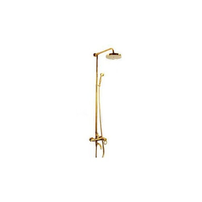 Aoace Ti-pvd Wall Mount Waterfall Rainfall + Handheld Shower Faucet