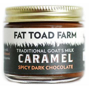 Fat Toad Farm Traditional Goat's Milk Caramel Sauce, Spicy Dark Chocolate, 2fl oz Jar, Cajeta, Gluten Free [Spicy Dark Chocolate]