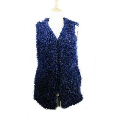 Amtal Women Faux Fur Vest Waistcoat Front Hook Closure Sleeveless Jacket