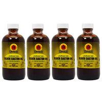 Tropic Isle Living Jamaican Black Castor Oil 4oz 'Pack of 4' w/Free Applicator