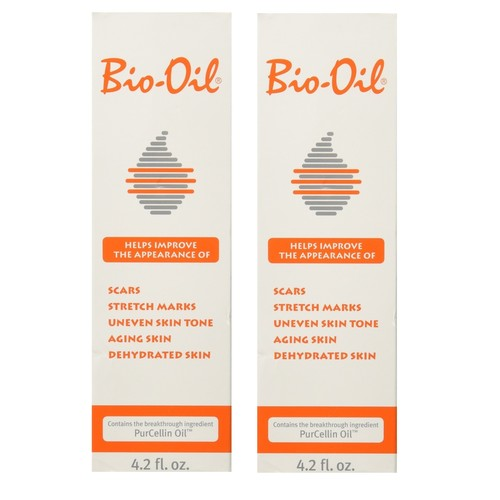 Bio-Oil for Scars,Stretch Marks, Uneven Skin Tone w/ PurCellin Oil, 4.2 oz/125ml (Pack of 2) + LA Cross Blemish Remover 74851