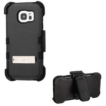 Asmyna Phone Case for Samsung Galaxy S7 Edge - Natural Black/Black